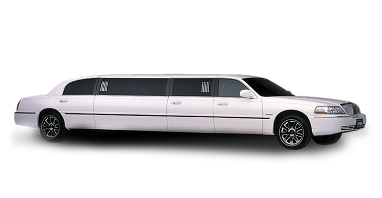 Stretch Town Car Limo White